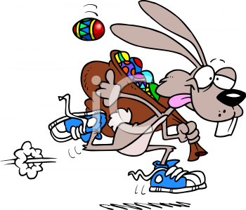 Running Easter Bunny Clip Art